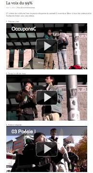 photo de page en miniature des vidéos - on voit 3 des 27 vidéos